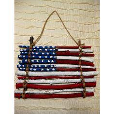 @Ruth H. Slaght Hamilton Estes This is cute 'DIY Artwork American Flag'