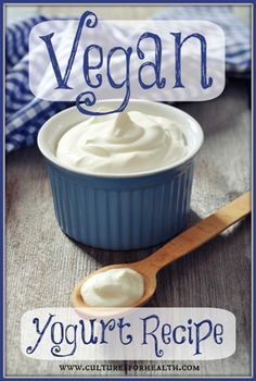 Vegan Yogurt Recipe, ldeer