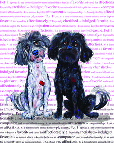 Dog Love.  You can't describe it and you can't define it.  You experience it and there is nothing like it. Debby Carman whimsical dog art and original paintings. Faux Paw productions. http://www.whimshots.com/fauxpaw-franchise/