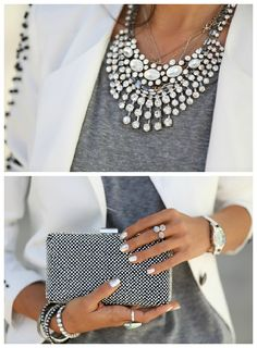 Looking to revamp your professional wardrobe? Update your outfits with a statement necklace!