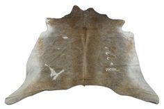 Dark Grey Cowhide Rug Size: 5.7 X 7 ft Dark Gray Cow Hide Rug Skin i-780 #DeluxeCowhides #Contemporary