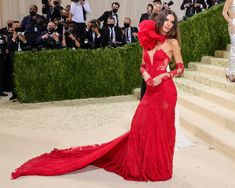 """Fashion's biggest night is back, and this year the theme is """"In America: A Lexicon of Fashion,"""" a true celebration of American fashion. Tap to see every single #celebrity #redcarpet arrival to the 2021 #MetGala. Vera Wang Gowns, Vera Wang Dress, Met Gala Outfits, Valentino Gowns, Met Gala Red Carpet, Glamour, Costume Institute, Emily Ratajkowski, Celebrity Look"""