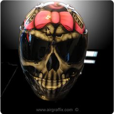 Skull With Pink Truefire and Bow