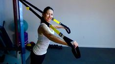 Sculpted arms are strong arms! This short, effective TRX circuit targets biceps, triceps, shoulders and even chest and back. Set up the TRX at an angle that . Fitness Workouts, Fitness Routines, Gym Workout Chart, Trx Workout, Trx Training, Strength Training, Trx Class, Trx Straps, Sculpted Arms