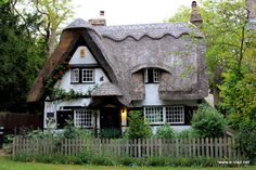 Cottages Houses:  A darling thatch-roofed cottage.