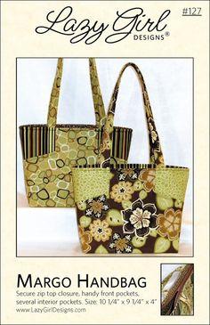 Margo Handbag pattern from Lazy Girl Designs