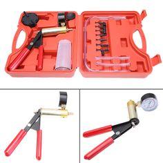Car Automobiles Vacuum Pump Tester Suction Gun Brake Bleeder Adaptors Kit Car Motorcycle Cylinder Diagnostic Tools Kit #Affiliate