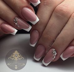 130 French Nails Ideas – The Best Nail Designs – Nail Polish Colors & Trends French Nails, French Manicure Nails, French Manicure Designs, Gel Nails, Acrylic Nails, Nail Polish, Coffin Nails, Bridal Nails French, Nails Design