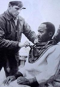 "Carl Brashear – deep sea diver. He was the first African American to become a master diver for the U.S. Navy. He was also the first Navy diver to return to full duty as an amputee. In 1966 he was assigned to recover a hydrogen bomb that fell into the sea off the coast of Spain after two US Air Force planes collided. As a result, his leg was injured and later amputated. His life was made into a movie in 2000 titled ""Men of Honor"" starring Cuba Gooding Jr."