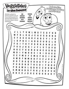 Free Veggie Tales Word Search