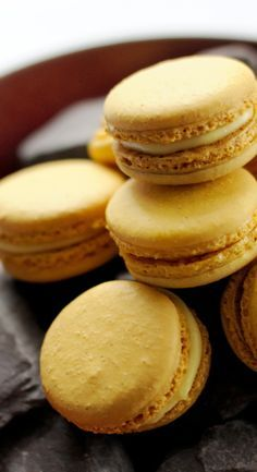 Passion fruit macarons - Agnar Sverrisson