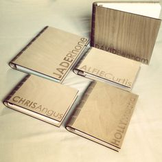 loving these custom laser engraved amazing living hinge notepad holders from www.junction4a.co.uk