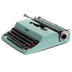 Revitalized Olivetti Lettera 32 Typewriter from The Antikey Chop on Etsy