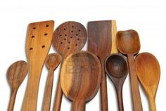 29 Wooden Spoons A group of handcrafted wooden spoons for cooking Stock Photo - 7669749