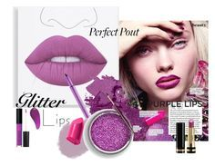 "glitter Lips"" by kapua-blume ❤ Purple Lips, Glitter Lips, Lime Crime, Polyvore, Charlotte Tilbury, Bobbi Brown, Topshop, Cosmetics, Dreams"