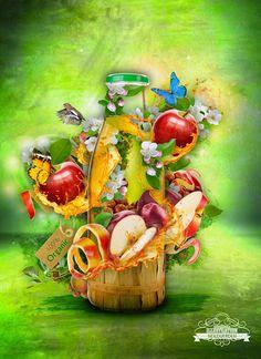 Fruit juice advert illustration