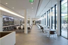 Rhode & Schwartz Canteen / Munich with Catifa 46 chairs (Arper)