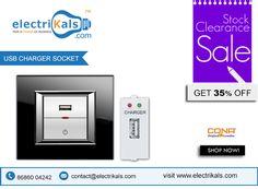 #USBSocket - Buy #Cona 12686 USB Charger Socket-Slimy Modular Series | Electrikals.com #OnlineShopping
