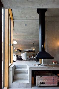 Inspiring Minimal Living Space Designs #minimal #concrete #homedecor #design #living #interior