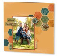 Let's face it - autumn is just around the corner, and what better way to welcome it than in style with a fun new project for your home!? This perfectly lovely photo panel is a brand new template available for you to drag and drop your favorite family photo into, add a date, and order right on the Creative Memories Digital Center (US Canada). No designing required! Created using the Reminisce Digital Power Palette, this project features all kinds of crisp fall colors that will accent your…