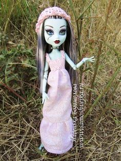 Tutorial and free pattern for Monster High knit-sew dress