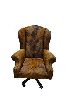 custom western furniture leather cowhide embossed leather all