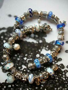 Old pandora blue murano's