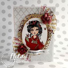 Hilda Designs: Reto Marzo en SCC: Tarjeta Oriental
