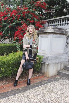 Look do dia: bomber com patches