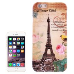 [USD0.85] [EUR0.76] [GBP0.61] Eiffel Tower Flowers Birds Pattern TPU Case for iPhone 6 Plus & 6S Plus