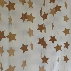 3 Metres Natural Star Garland Vintage Shabby Chic - chic wedding decoration, baby shower decoration, party decoration,