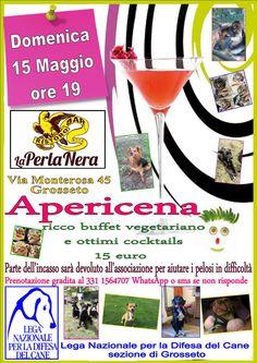 15/5 Apericena benefit organizzato dalla #LegadelCane di #Grosseto