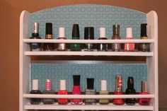 DIY Nail Polish Holder: If you are looking for a quick and easy way to display your polishes and declutter your life, then this do-it-yourself project is for you.