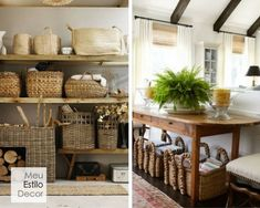 Decoração de sala aconchegante em 3 camadas • MeuEstiloDecor Wicker Baskets, Mea, Home Decor, Creative Ideas, Decorating Ideas, Layering, Snuggles, Bedroom Decor, Architecture