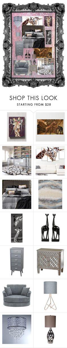 """Gray Giraffe Inspired Bedroom"" by aurorasblueheaven ❤ liked on Polyvore featuring interior, interiors, interior design, home, home decor, interior decorating, Spring Carolina Whitaker, Alexander, Design Art and Roberto Cavalli"