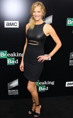 Anna Gunn from Breaking Bad season finale premiere. Bringing the hotness. Love the mixed media black.