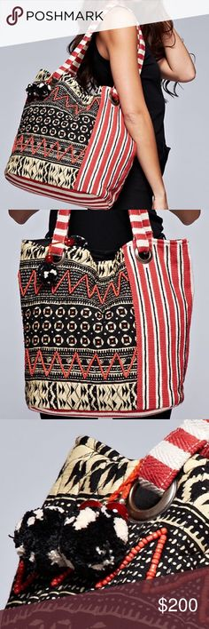 Spotted while shopping on Poshmark: ETHNIC TOTE Embellished Patchwork Tapestry…