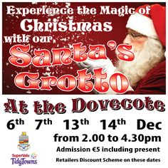Santa is coming to #Cahir ...Experience the magic of Christmas and remember shop local.  This event is in association with Cahir Tidy Town's , Local council and local businesses