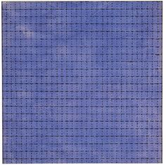 "Agnes Martin, ""Starlight,"" 1963. Watercolor and ink on paper, 8 x 8 in."