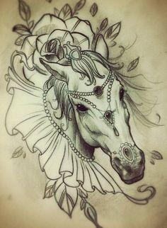 Mandala Horse Tattoos