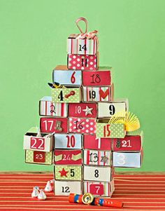 DIY Advent Calendar...thanks A Typical A