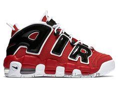 quality design a601e 6e3c9 Officiel Nike Air More Uptempo GS 415082-600 Chaussure De Basketball Pas  Cher Femme Noir