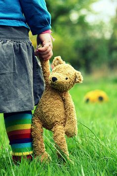 There's no better friendship than a child and it's teddy bear.