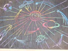 Мастер-класс «Космос» (цветной граттаж)  Фото