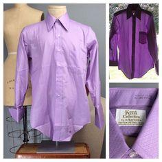 Vtg 70s #Sanforized #NOS Lavender Kent Arrow Burma2 Dress Shirt 15-32 French Cuff #Arrow #vintageshirt