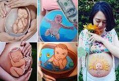 pintura barriga gravida - Pesquisa Google