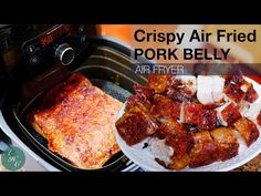 Filipino Crispy Pork Belly | Delicious and Easy way to make like Lechon Kawali using Air Fryer - YouTube Pok Chop Recipes, Pork Belly Recipes, Air Fry Recipes, Lamb Recipes, Cooking Recipes, Lechon Kawali, Fried Pork Belly, Lamb Dishes, Crispy Pork