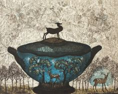 Kirsi Neuvonen - Bambi Etching on Paper, Prints Intaglio Printmaking, Kahlo Paintings, Artist Portfolio, Detail Art, Miniture Things, Love Art, Contemporary Artists, Illustrators, Sculptures