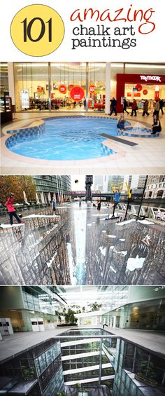 check out 101 of the most amazing sidewalk chalk art paintings you've ever seen.   www.signs.com #ChalkArt #SidewalkArt
