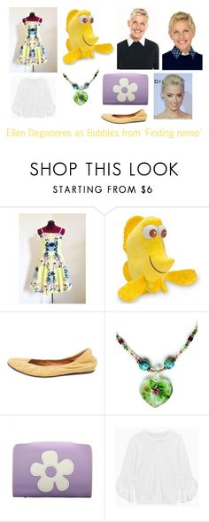 """Disney dream cast: Ellen degeneres as Bubbles from 'Finding nemo'"" by sarah-m-smith ❤ liked on Polyvore featuring Lanvin"